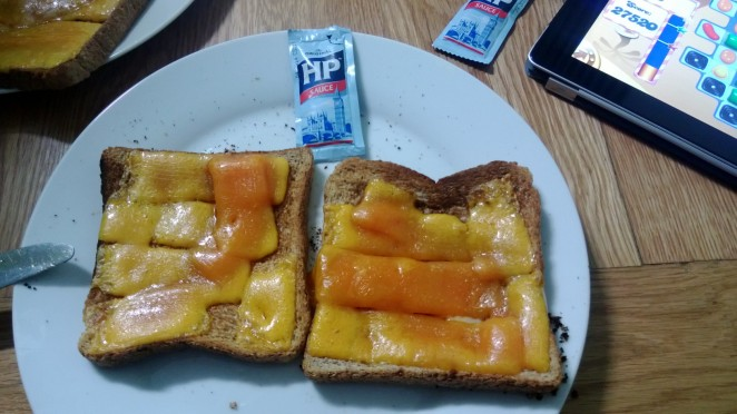 Cheese on toast for breakfast