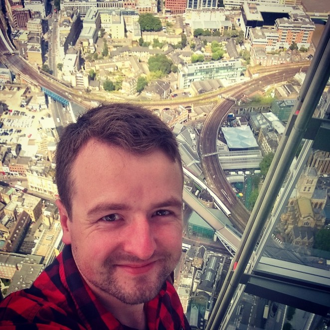 Selfie at the top of The Shard