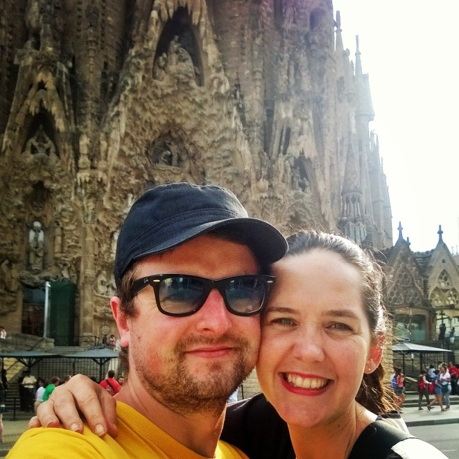 Selfie at Sagrada Familia